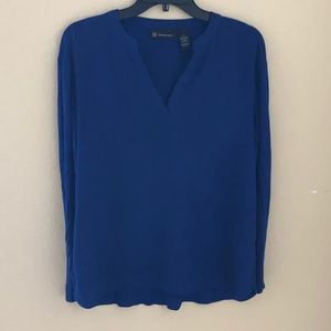 INC BLOUSE BLUE SIZE SMALL